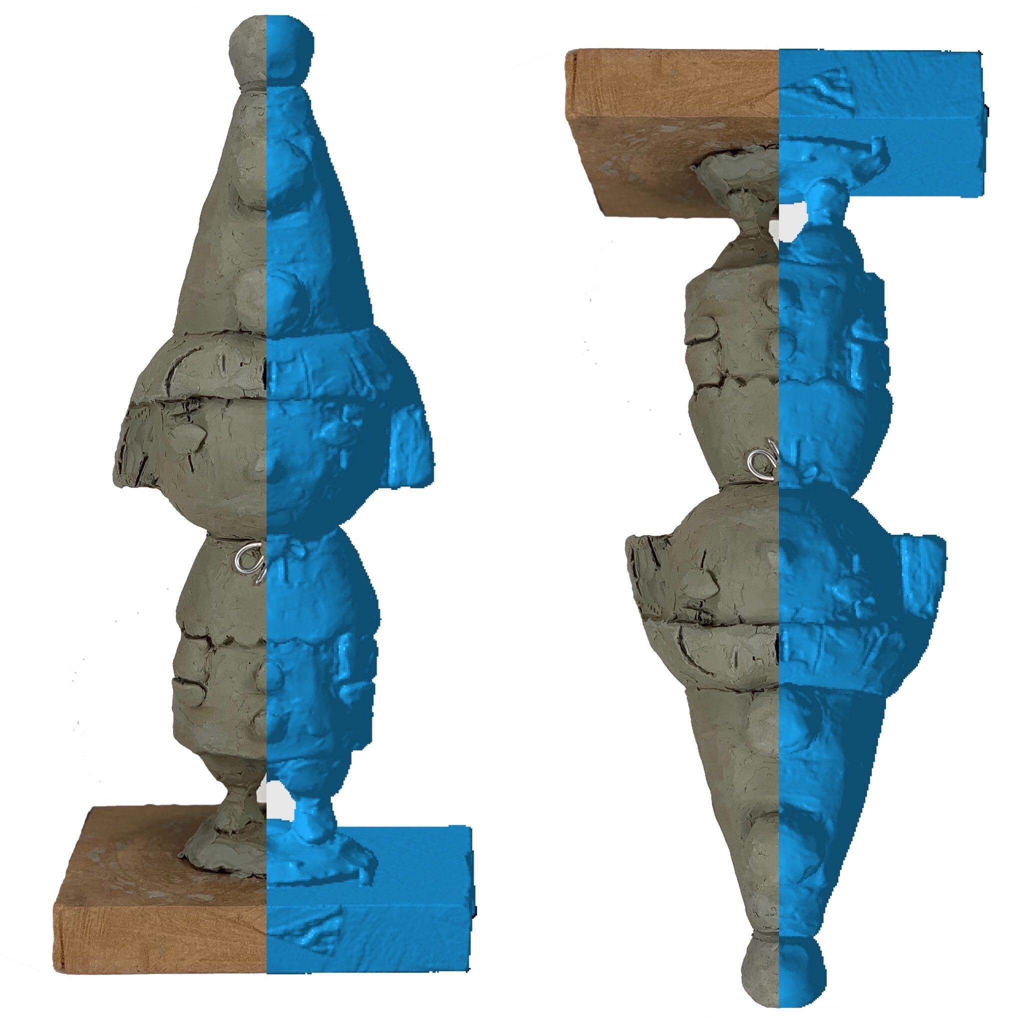 3d scan a clay sculpture to produce an accurate digital 3d model in STL file format